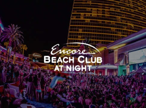 Encore Beach Club At Night bottle service