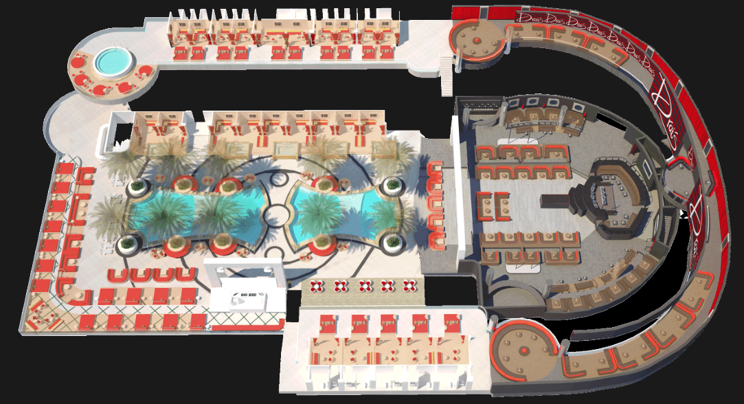 Drais Nightclub floor plan