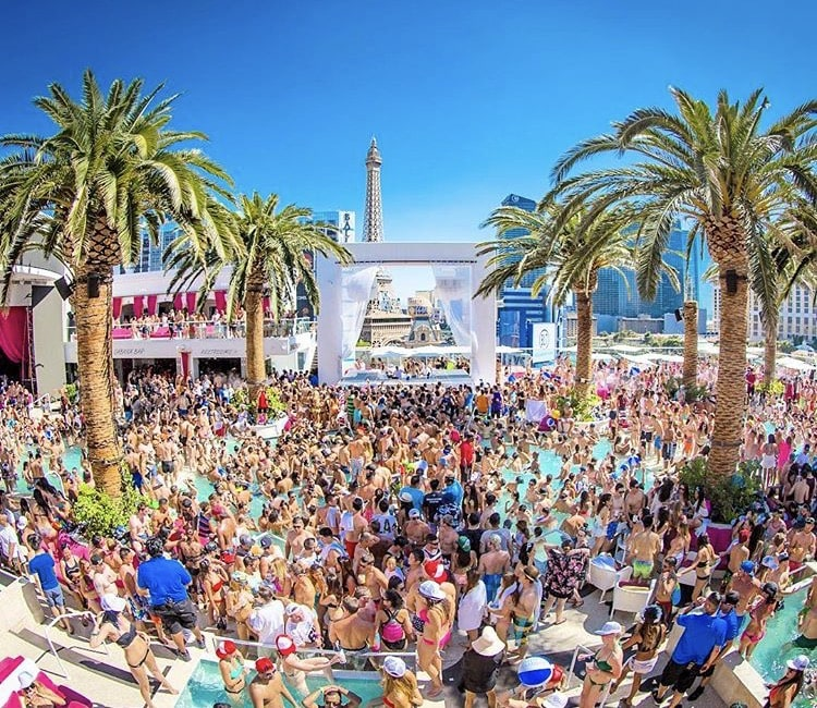 Drais pool party Las Vegas