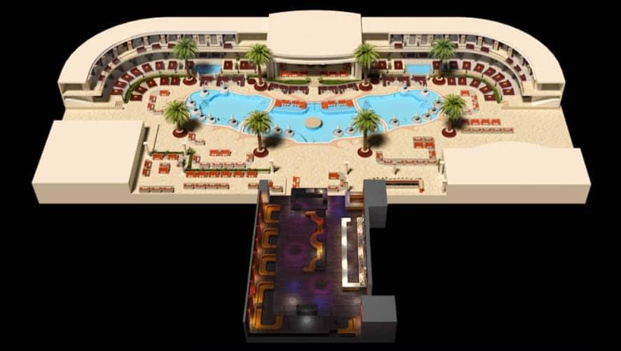Encore Beach Club table layout