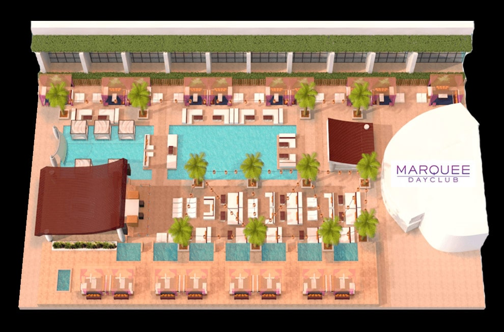 Marquee Dayclub Table Layout