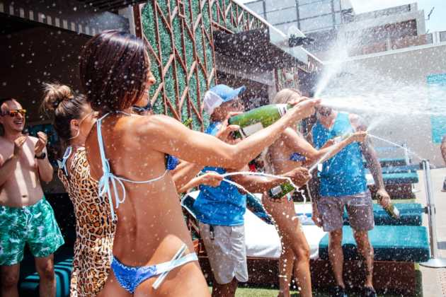 Wet Republic champagne showers