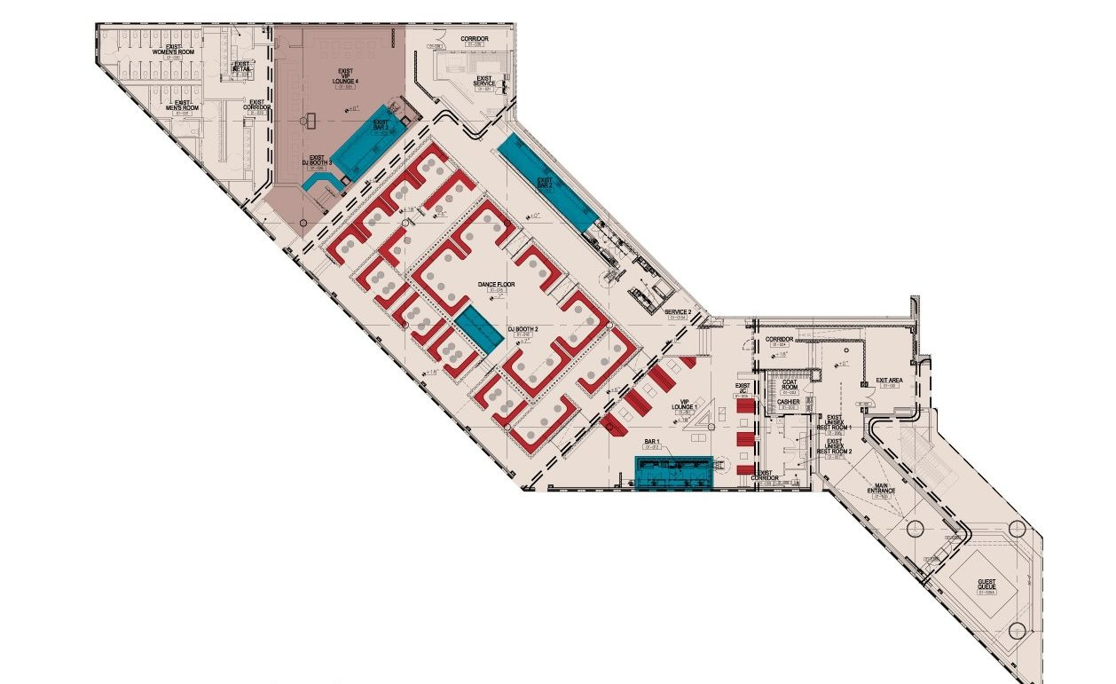 1Oak Las Vegas floor plan