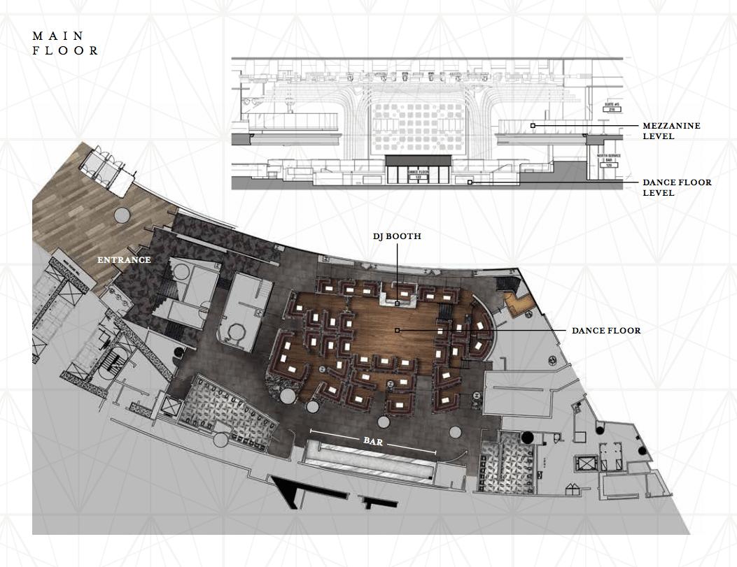 Jewel Nightclub floor plan