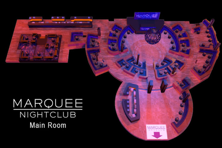 Marquee Nightclub floor plan