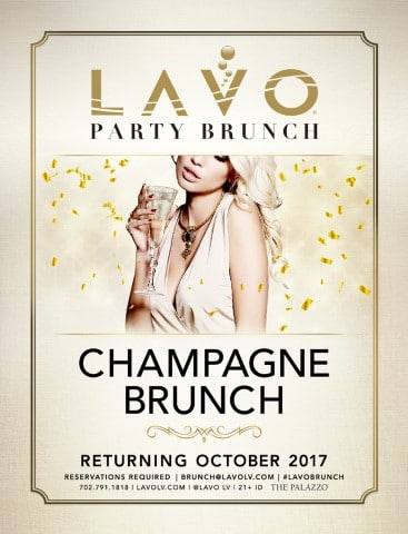 Lavo Brunch Returns