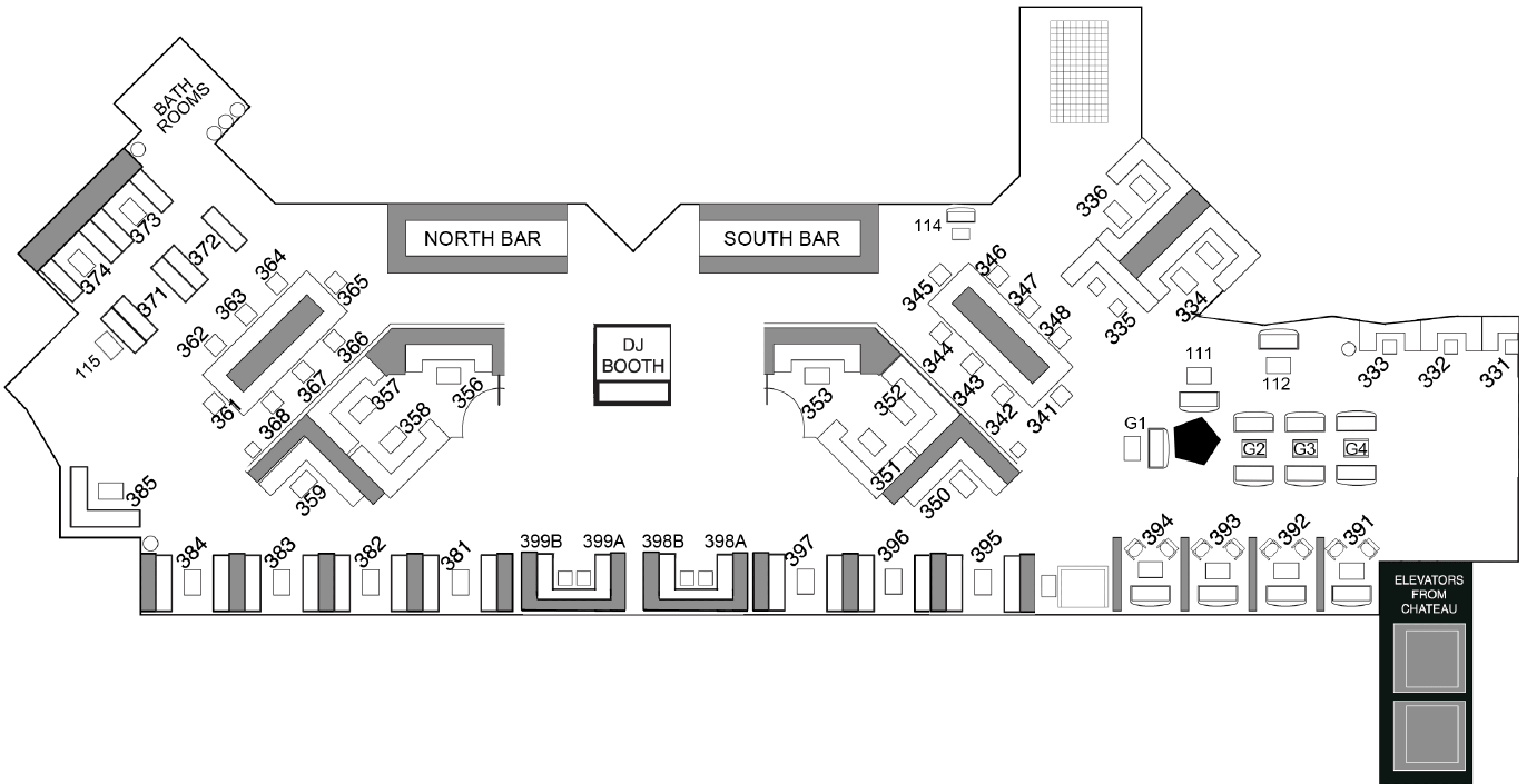 Chateau Nightclub map