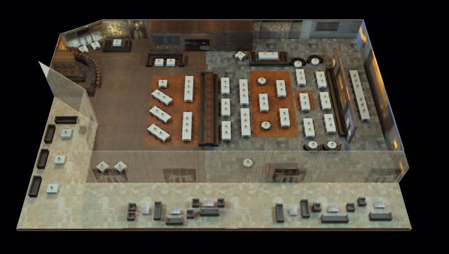 Lavo Brunch floor plan