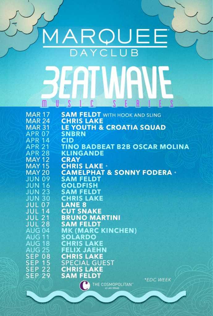 Beatwave Music Series calendar