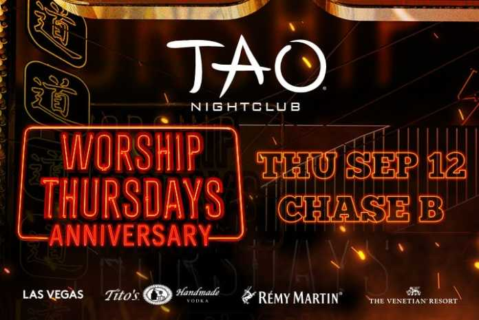 Tao Nightclub Las Vegas Worship Thursday Anniversary