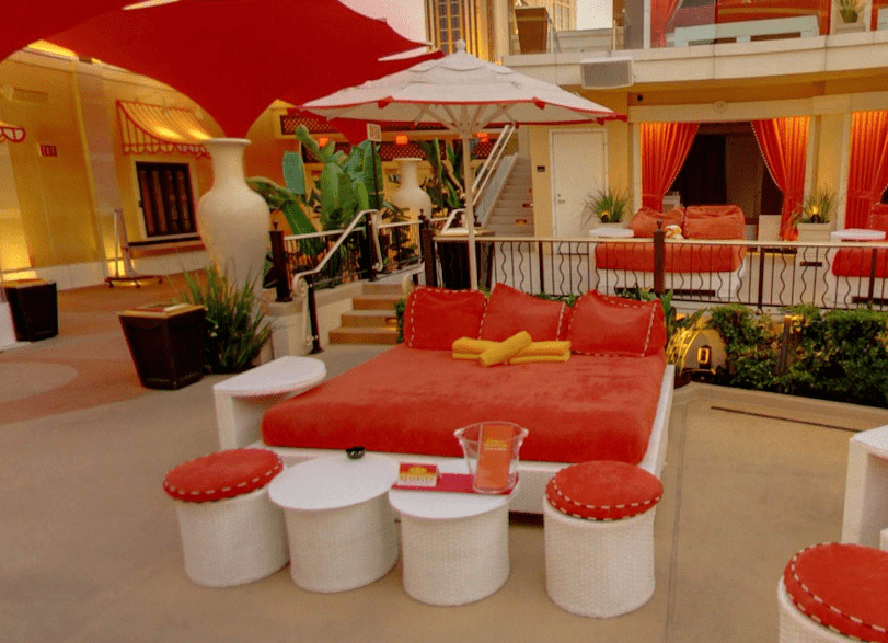 Encore Beach Club day bed