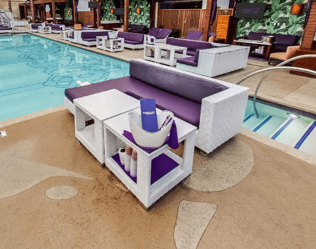 Marquee Dayclub Pool Side Couch