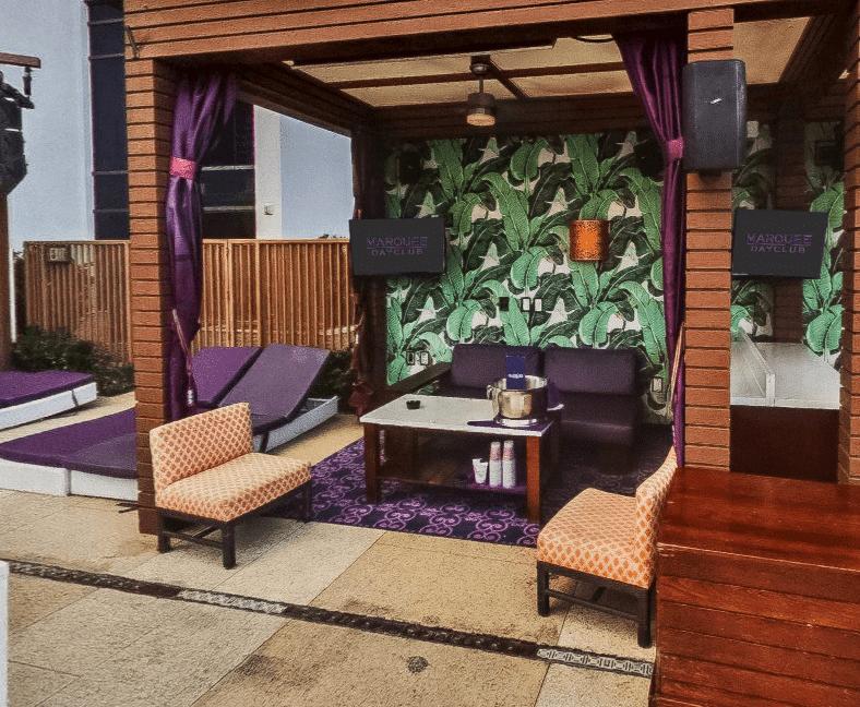 Marquee Dayclub cabana