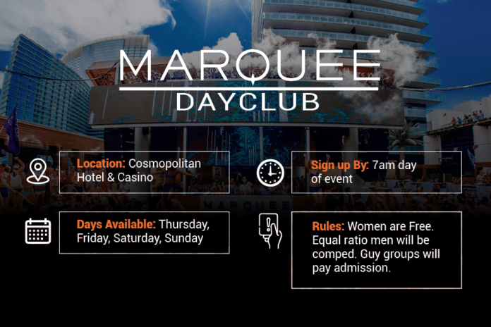 Marquee Dayclub guest list